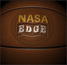 The NASA Edge Logo Basketball